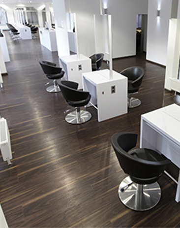 installation reference of NOX ECOCLICK+ in Friseur Frontlook hair Salon